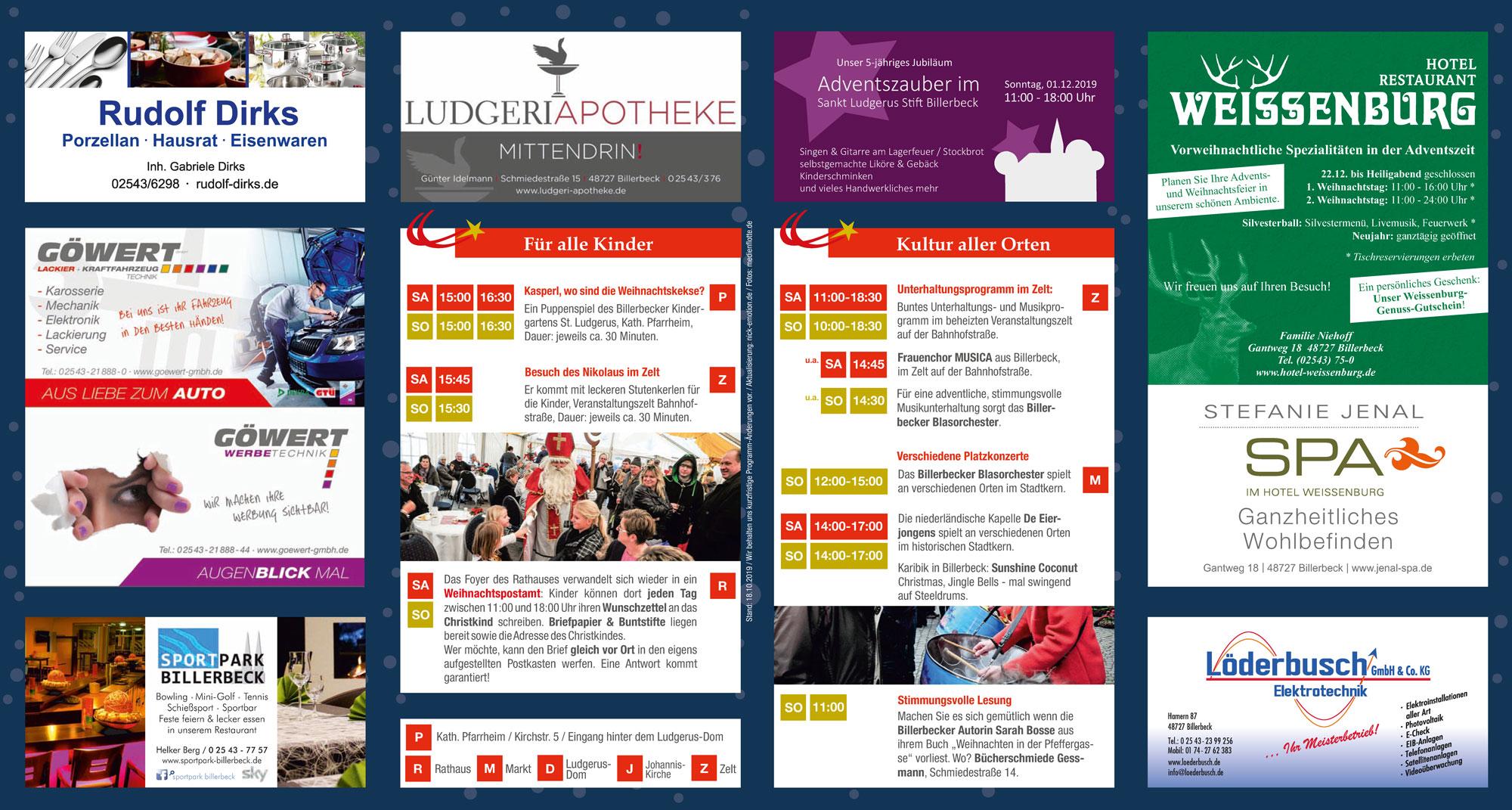 Unser Programm für den Weihnachtsmarkt